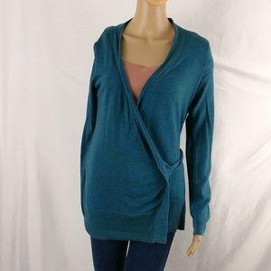Gap size medium wrap sweater blue